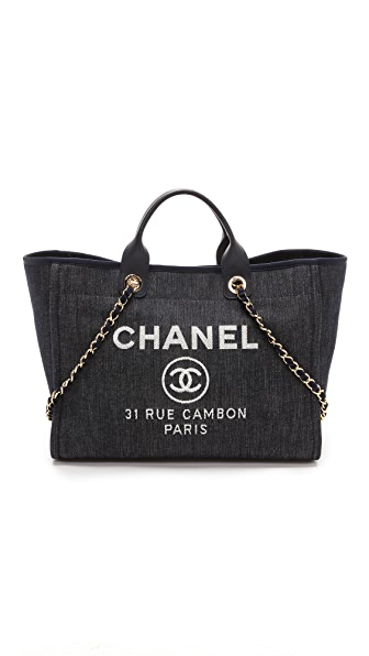 What Goes Around Comes Around Chanel Denim Deauville Medium Bag