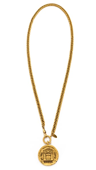 What Goes Around Comes Around Vintage Chanel Rue De Cambon Pendant Necklace