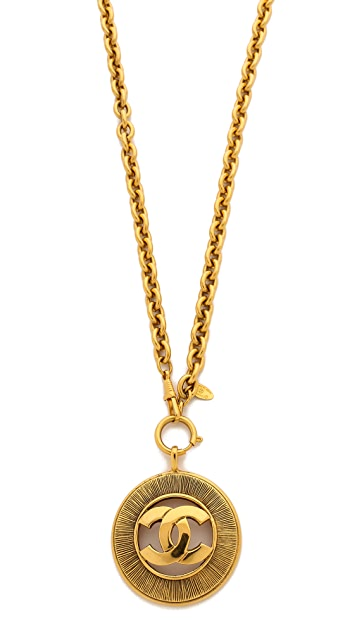 What Goes Around Comes Around Vintage Chanel Cutout CC Necklace
