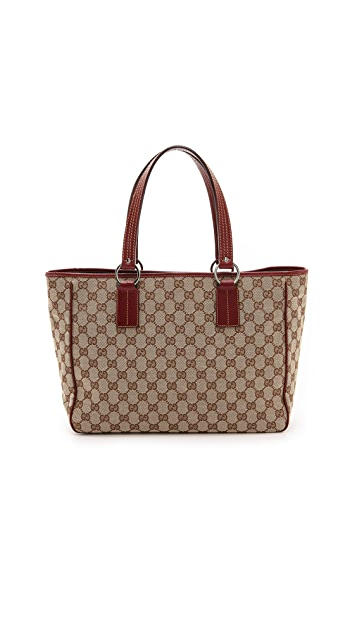 What Goes Around Comes Around Gucci Canvas Satchel