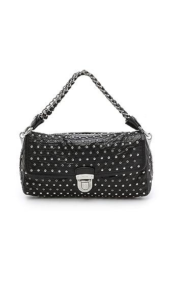 What Goes Around Comes Around Prada Studded Shoulder Bag