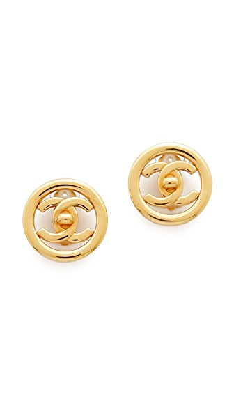 What Goes Around Comes Around Vintage Chanel Turnlock Earrings