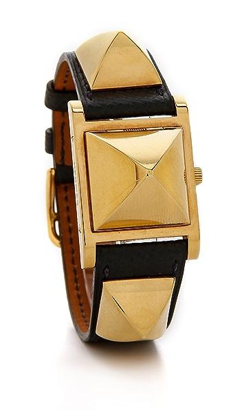What Goes Around Comes Around Vintage Hermes Epsom Medor Watch