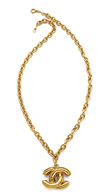 What Goes Around Comes Around Vintage Chanel Quilted CC Necklace
