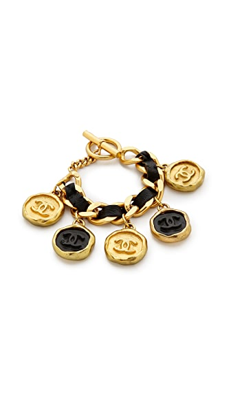 What Goes Around Comes Around Vintage Chanel Sealing Wax Charm Bracelet
