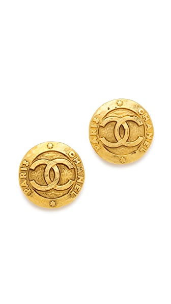 What Goes Around Comes Around Vintage Chanel Paris Round Earrings