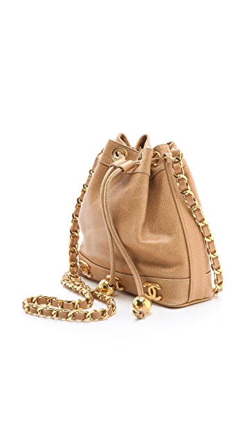 What Goes Around Comes Around Vintage Chanel Caviar Bucket Bag