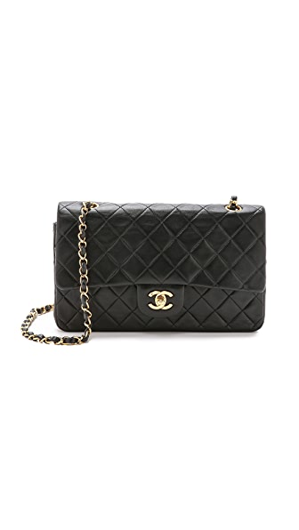 What Goes Around Comes Around Chanel 10'' Shoulder Bag (Previously Owned) - Black