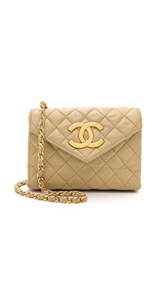 What Goes Around Comes Around Heritage Chanel Envelope Bag - Beige