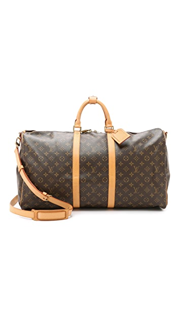 What Goes Around Comes Around Heritage Louis Vuitton Monogram Keepall 55 Bag