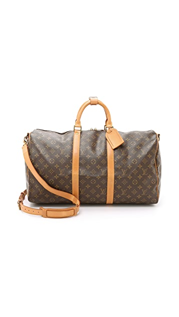 What Goes Around Comes Around Heritage Louis Vuitton Monogram Keepall 50 Bag