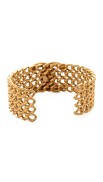 What Goes Around Comes Around Chanel Turn Lock Mesh Cuff Bracelet (Previously Owned)