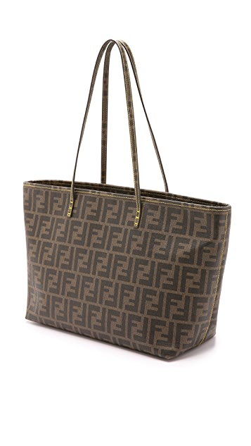 What Goes Around Comes Around Fendi Zucca Roll Bag (Previously Owned)