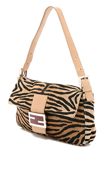 What Goes Around Comes Around Fendi Haircalf Baguette Bag (Previously Owned)