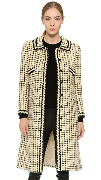 What Goes Around Comes Around Chanel Tweed Coat (Previously Owned ...