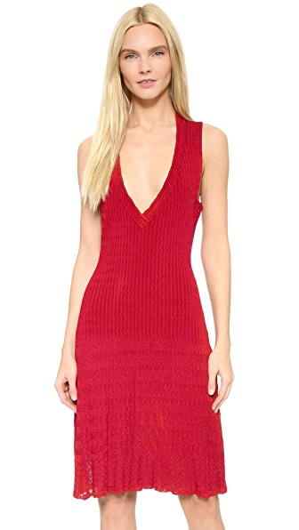 What Goes Around Comes Around Alaia Sleeveless Knit Dress (Previously Owned) - Red