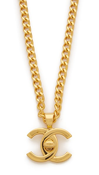 What Goes Around Comes Around Chanel Turn Lock Charm Necklace (Previously Owned)