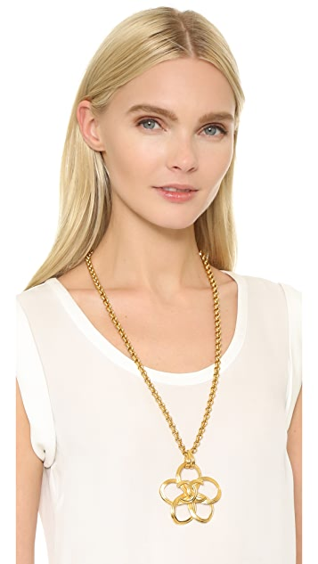 What Goes Around Comes Around Chanel CC Cutout Flower Necklace (Previously Owned)