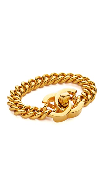 What Goes Around Comes Around Chanel Medium Turn Lock Bracelet (Previously Owned)
