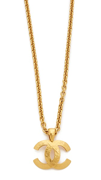 What Goes Around Comes Around Chanel Quilted Cc Necklace (Previously Owned) - Gold