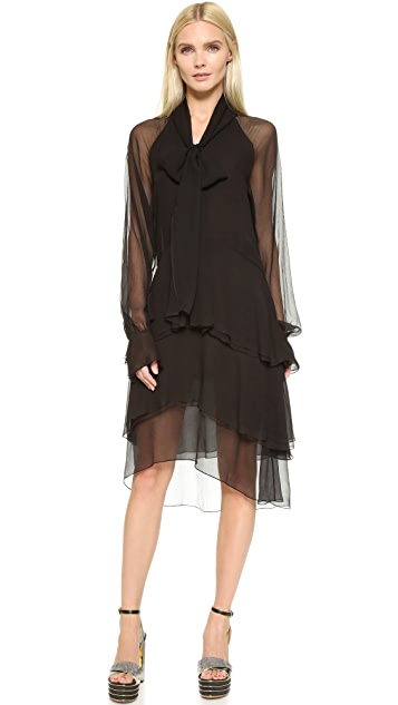 What Goes Around Comes Around Chloe Tiered Long Sleeve Dress (Previously Owned)