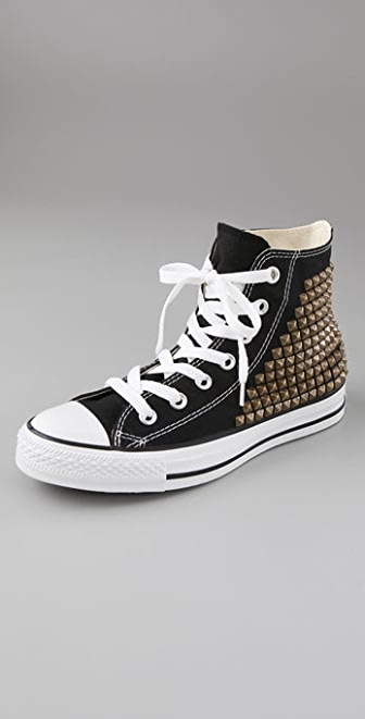 What Goes Around Comes Around Studded Converse High Top Sneakers