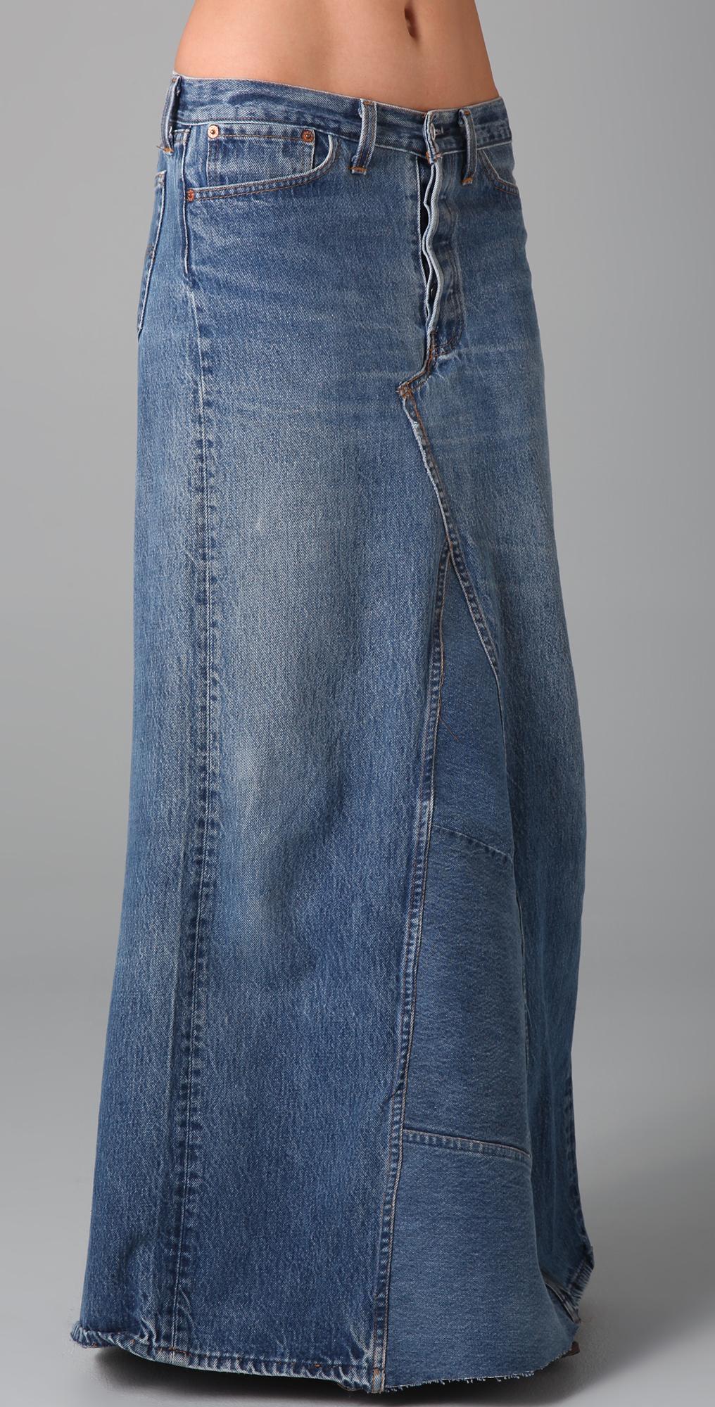 What Goes Around Comes Around Vintage Denim Long Skirt | SHOPBOP