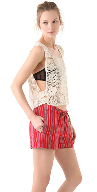 What Goes Around Comes Around Pratt Crochet Top