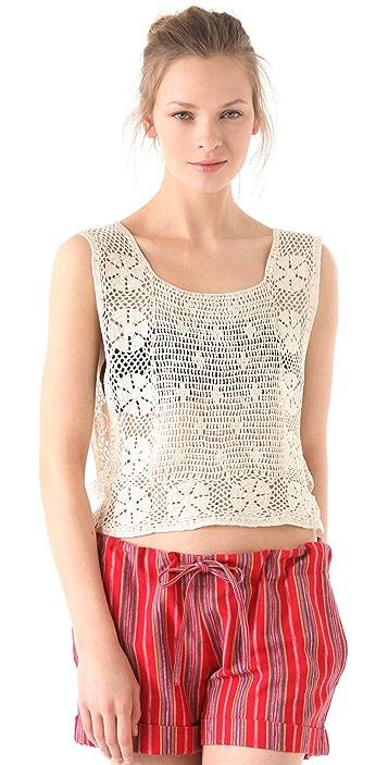 What Goes Around Comes Around Pratt Crochet Top