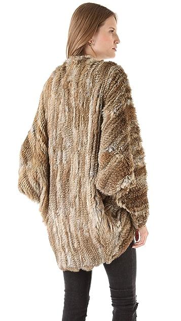 What Goes Around Comes Around Autumn Fur Shrug
