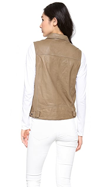 What Goes Around Comes Around Studded Britt Leather Vest