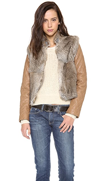 What Goes Around Comes Around Charlotte Fur & Leather Jacket / Vest