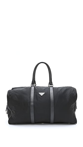 What Goes Around Comes Around Vintage Prada Nylon Boston Duffel