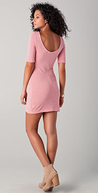 Whetherly Lady Striped Scoop Back Dress