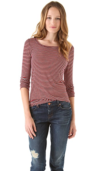 Whetherly Wood Triple Stripe Sweater