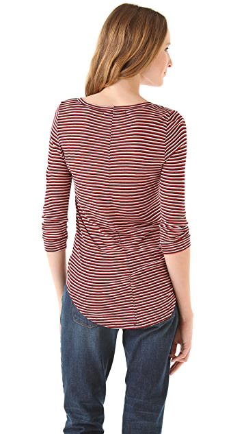 Whetherly Wood Triple Stripe Sweater