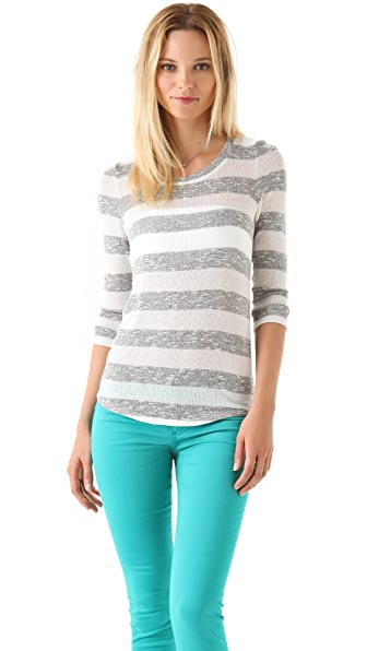Whetherly Wood Boucle Stripe Sweater