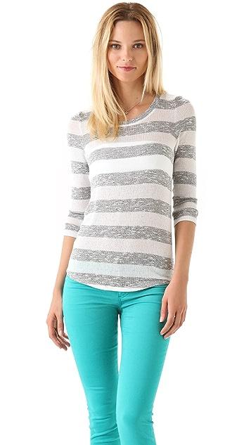 Whetherly Wood Boucle Stripe Sweater