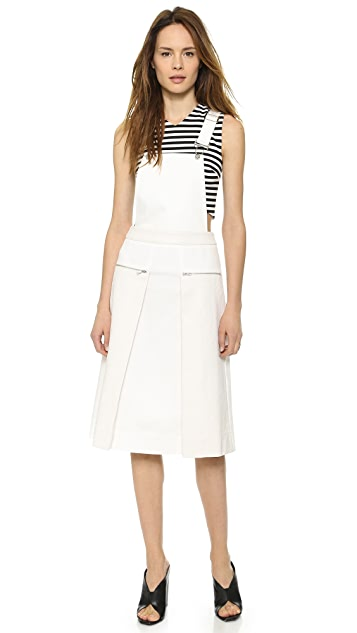Whistles Mixed Fabric Overall Dress