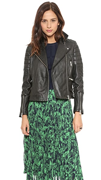 Whistles Dylan Leather Biker Jacket