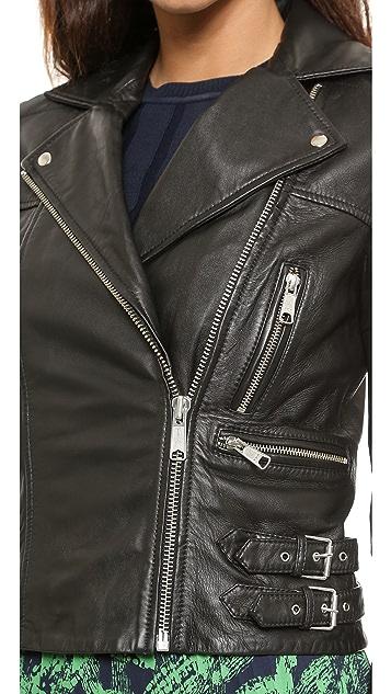 Whistles Dylan Leather Biker Jacket