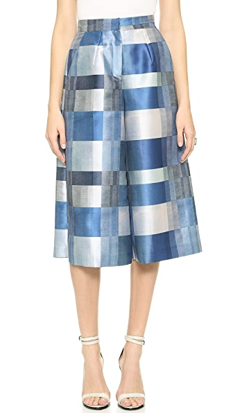 Whistles Hoshiko Patchwork Check Culottes
