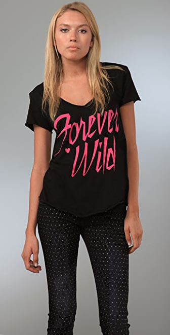 Wildfox Forever Wild V Neck Tee