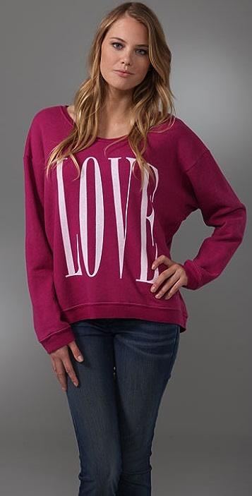 Wildfox Big Love Oversized Sweatshirt