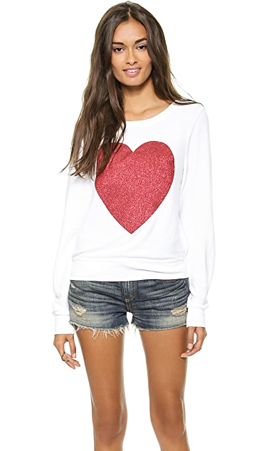 Wildfox Sparkle Heart Baggy Beach Top