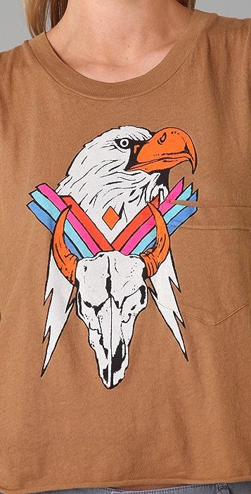 Wildfox Apache Eagle Crop Tank