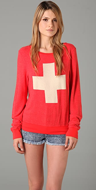 Wildfox Lifeguard Baggy Beach Sweatshirt