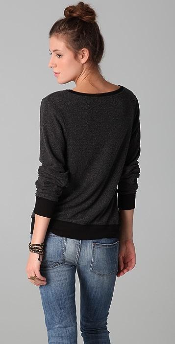 Wildfox Polo Girl Baggy Beach Sweatshirt