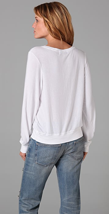 Wildfox America Baggy Beach Sweatshirt