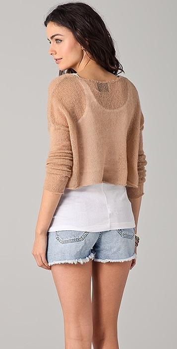 Wildfox Wildfox White Label Crush Cropped Sweater
